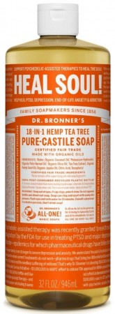 Dr. Bronner´s PURE-CASTILE LIQUID SOAP tea tree 473ml