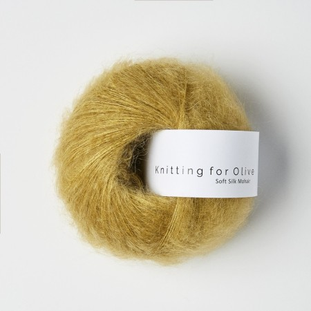 "Soft silk mohair ""støvet honning"", knitting for olive"