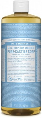 Dr.Bronner PURE-CASTILE LIQUID SOAP baby/unsented 473 ml