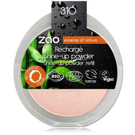 Zao refill highlighter pink champagne