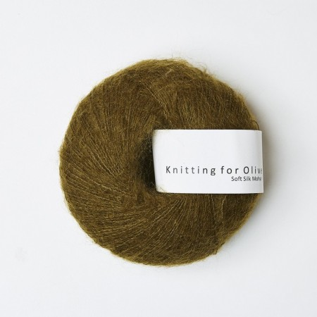 Soft silk mohair - Kobbergrøn, knitting for olive