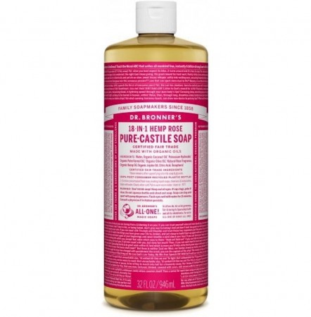 Dr. bronner Pure-Castile Liquid Soap Rose 475 ml