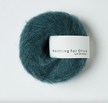 Soft silk mohair - petroleumsgrøn, knitting for olive