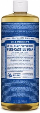 Dr. Bronner PURE-CASTILE LIQUID SOAP peppermynte 473 ml