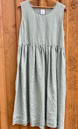 Smock Dress, Sleeveless, Mint tea (1 igjen i str M)
