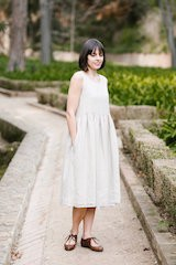 Smock Dress, Sleeveless Natural Linen (kun str L igjen)