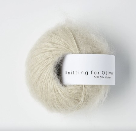 Soft silk mohair - marsipan, knitting for olive