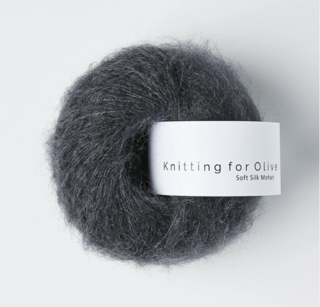 Soft silk mohair - slategrey, knitting for olive