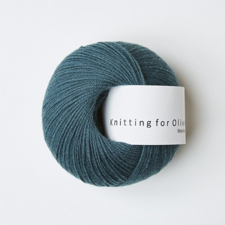 "Merino ""petroleumsgrøn"", knitting for olive"