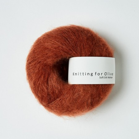 Soft silk mohair - Rust
