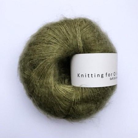 Soft silk mohair - Oliven, knitting for olive (4 nøster igjen)