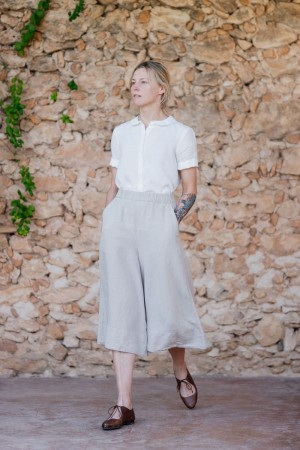 Katherine Trousers, Natural linen  (1 igjen i str M)