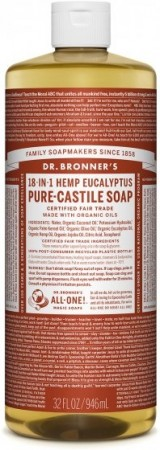 Dr. Bronner PURE-CASTILE LIQUID SOAP Eucalyptus 473 ml