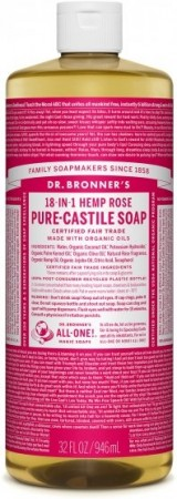 Dr. bronner Pure-Castile Liquid Soap Rose 473 ml