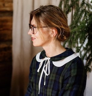 """Peter Pan collar large"", hvit løskrage i lin"