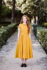 Classic dress, short sleeve Marigold