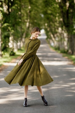 Classic dress, Long sleeve, Rosmary Green